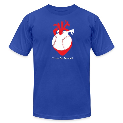 I live for Baseball! - Men's Fine Jersey T-Shirt
