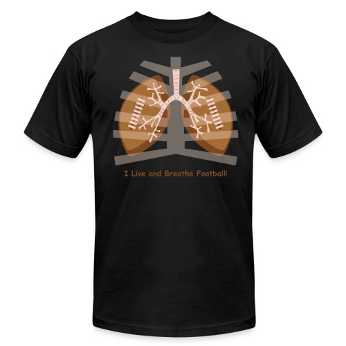 I Live and Breathe Football! - Men's Fine Jersey T-Shirt