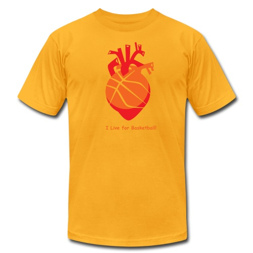 I live for Basketball! - Men's Fine Jersey T-Shirt