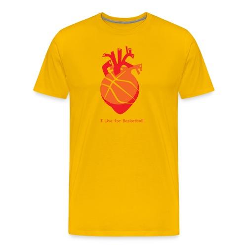 I live for Basketball! - Men's Premium T-Shirt