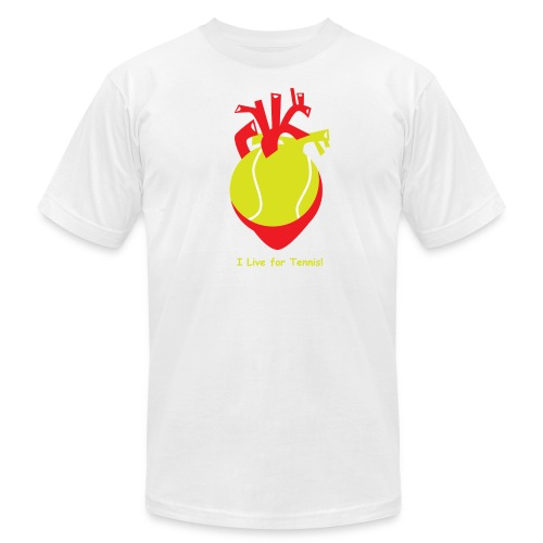 I Live for Tennis! - Men's Fine Jersey T-Shirt