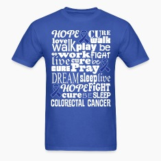 Colorectal Cancer Blue Awareness Ribbon Colon Canc T-Shirts