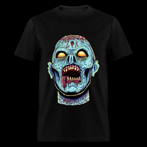 Zombie Head Blue Regular Men's T-Shirt - Men's T-Shirt