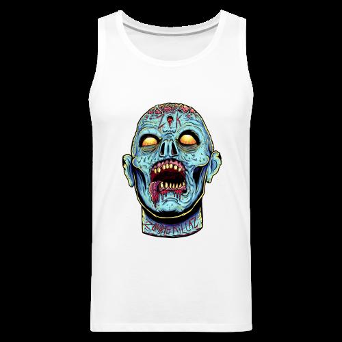 Zombie Head Blue Men's Premium Tank - Men's Premium Tank