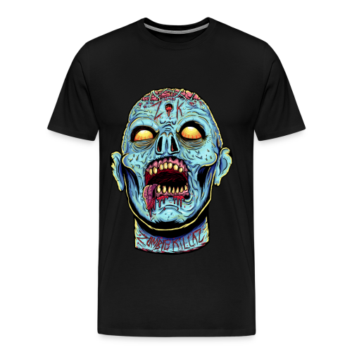 Zombie Head Blue Men's Premium Tank - Men's Premium T-Shirt