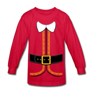 Christmas Elf Costume Tee - Kids' Long Sleeve T-Shirt