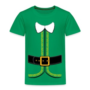 Christmas Elf Costume Tee - Toddler Premium T-Shirt