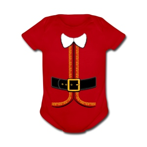 Christmas Elf Costume Tee - Short Sleeve Baby Bodysuit