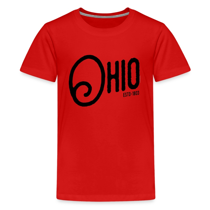 Ohio script t shirt spreadshirt for Ohio state t shirts for kids