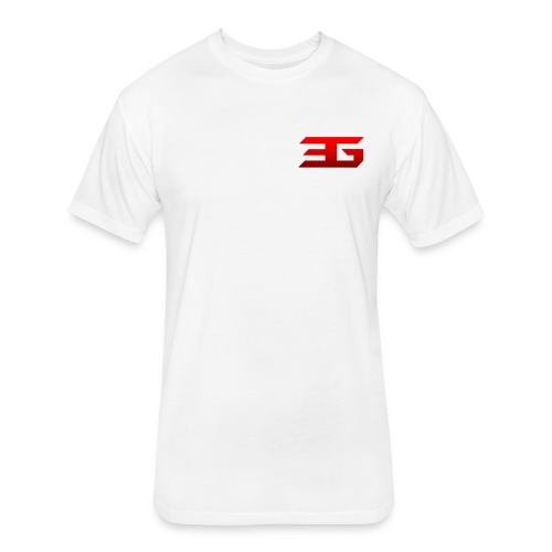 EaSt Mens White Athletic T-Shirt - Fitted Cotton/Poly T-Shirt by Next Level