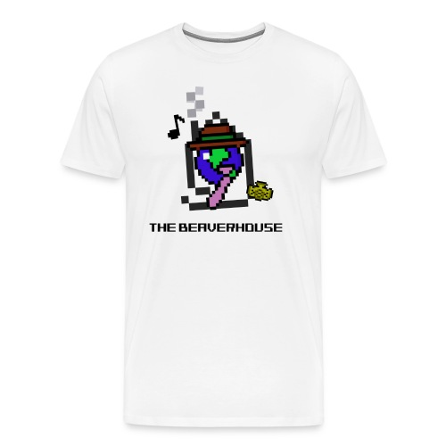 The Beaverhouse Logo (8 Bit Ver.) - Men's Premium T-Shirt