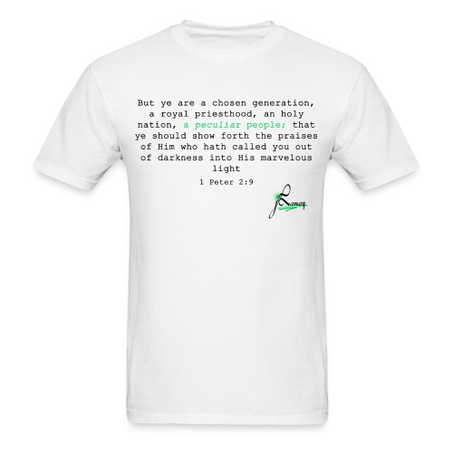 1 Peter 2:9 (White) - Men's T-Shirt