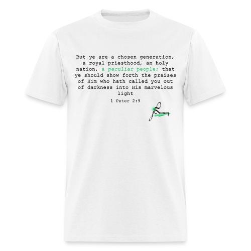1 Peter 2:9 (White) - Men's T-Shirt