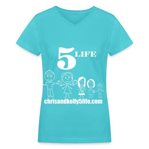 Women's V-Neck Tri-Blend T-Shirt - Women's V-Neck T-Shirt