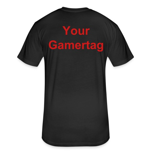 EaSt Mens Black athletic T-Shirt with gamertag - Fitted Cotton/Poly T-Shirt by Next Level