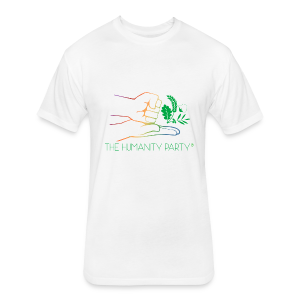 Humanity Party - Fitted Cotton/Poly T-Shirt by Next Level
