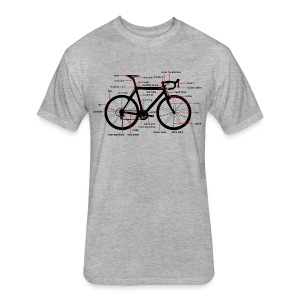 bicycle parts T-Shirts - Fitted Cotton/Poly T-Shirt by Next Level