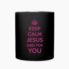 Keep Calm Jesus died4You Mugs & Drinkware
