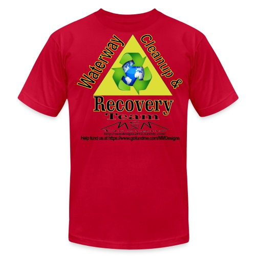 Waterway cleanup team logo - Men's Fine Jersey T-Shirt