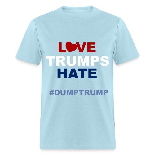 LOVE TRUMPS HATE - MENS (LIGHT BLUE) - Men's T-Shirt