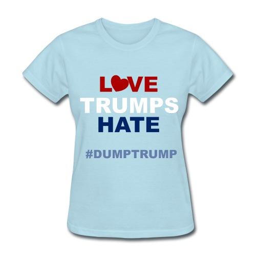 LOVE TRUMPS HATE - WOMENS (LIGHT BLUE) - Women's T-Shirt