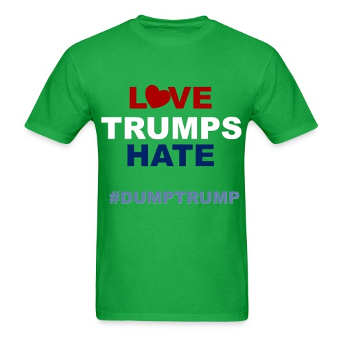 LOVE TRUMPS HATE - MENS (GREEN) - Men's T-Shirt