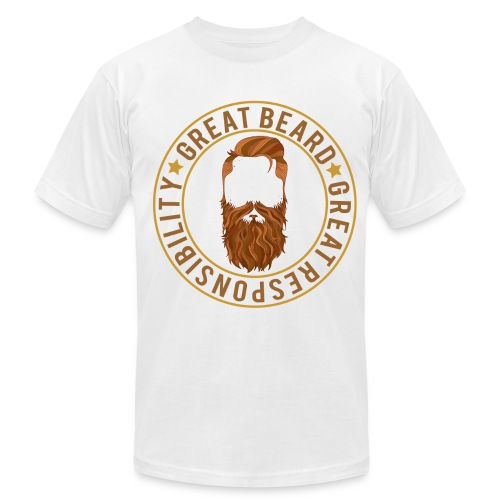 Great beard comes with great responsibility - Men's Fine Jersey T-Shirt