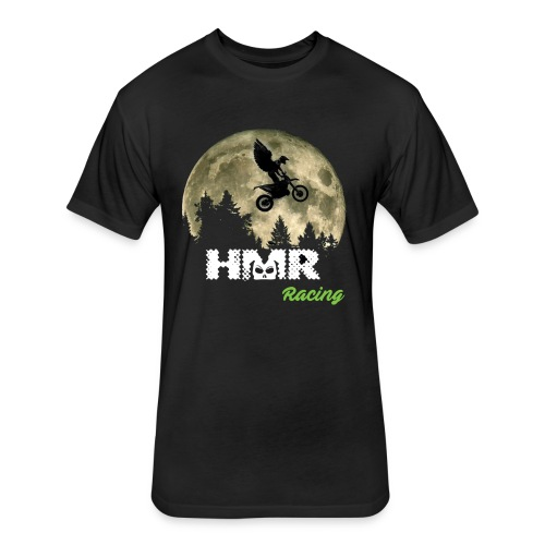 Awesome HMR Moon - Fitted Cotton/Poly T-Shirt by Next Level