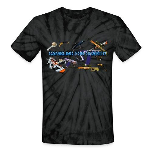 Gambling for Charity Tye Dye Tee - Unisex Tie Dye T-Shirt