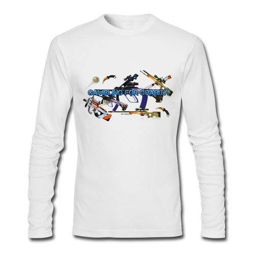 Gambling for Charity Long Sleeve Shirt - Men's Long Sleeve T-Shirt by Next Level