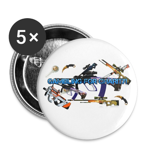 Gambling for Charity Buttons - Large Buttons
