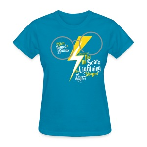 Because Not All Scars...(frnt/back)- Lady's Turquoise  - Women's T-Shirt