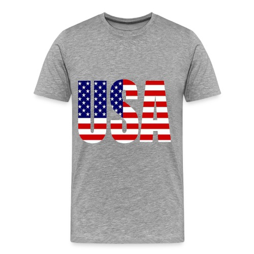 USA Men's Short Sleeve Shirt - Men's Premium T-Shirt