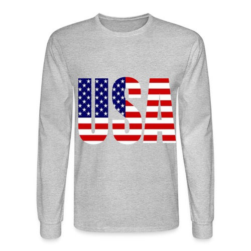 USA Men's Long Sleeve Shirt - Men's Long Sleeve T-Shirt