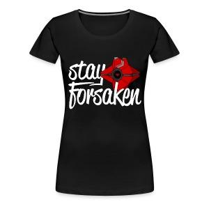 Stay Forsaken Ghost Womens Tee Black - Women's Premium T-Shirt