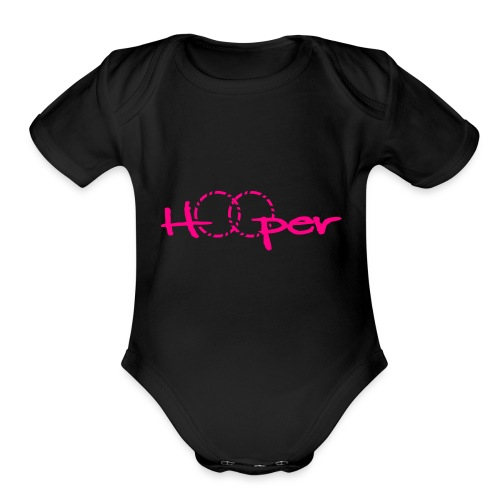 Baby Onesie with Pink - Organic Short Sleeve Baby Bodysuit