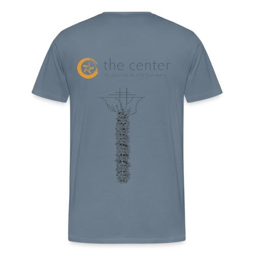IHO Aunty Pua Lei TShirt,slate blue grey Mens Cut - Men's Premium T-Shirt