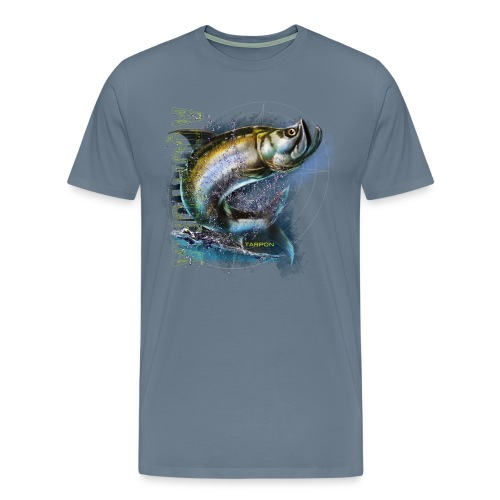 Aquatopia Jumping Tarpon mens tee - Men's Premium T-Shirt