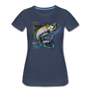 Aquatopia Jumping Tarpon womens tee - Women's Premium T-Shirt