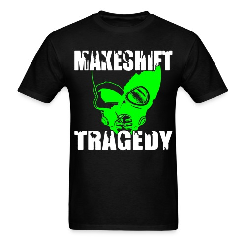 Makeshift Tragedy White and Black Skull Logo - Men's T-Shirt