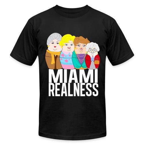 Miami Realness black - Men's Fine Jersey T-Shirt