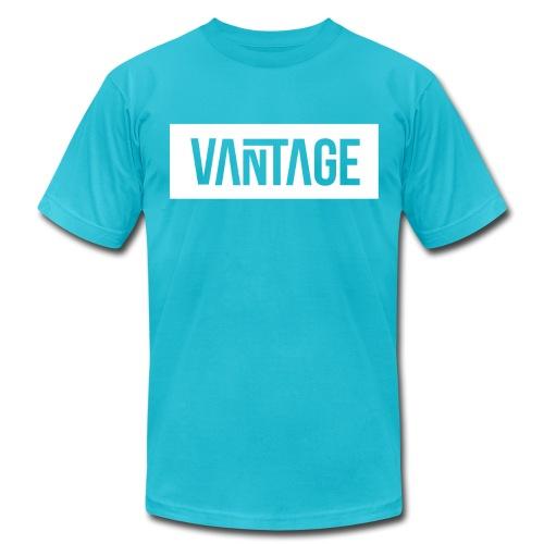 Skeezy Blue Vantage Tee  - Men's Fine Jersey T-Shirt