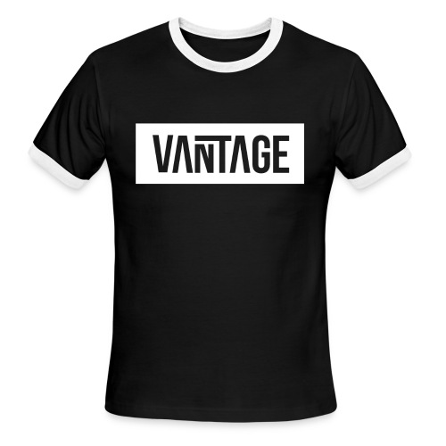 Black Vantage Ringer Tee  - Men's Ringer T-Shirt