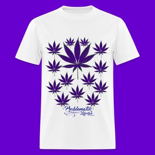 Purple Pot Leafs T-shirt - Men's T-Shirt