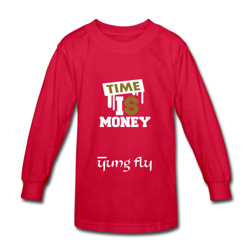 Time Is Money - Yung Fly - Kids' Long Sleeve T-Shirt