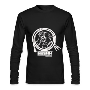 Men's Corilla Records Long Sleeve T-Shirt by Next Level ( White Logo) - Men's Long Sleeve T-Shirt by Next Level