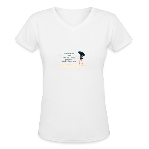 Ladies Inspirational Tshirt - Women's V-Neck T-Shirt
