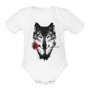 Rose Wolf - Short Sleeve Baby Bodysuit