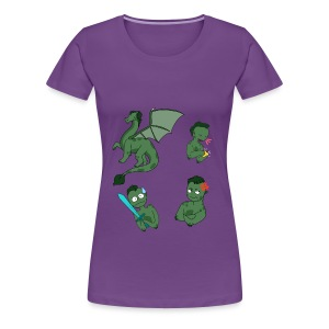 IxoNaut - Sprites (Womens) - Women's Premium T-Shirt