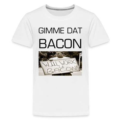 Kids' Gimme Dat Bacon - White - Kids' Premium T-Shirt